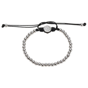 Full Mini Ball Bracelet - Rhodium-Goldoni Milano
