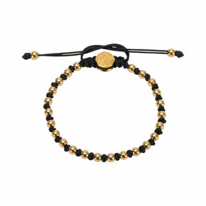 Alternated Mini Ball Bracelet - Gold-Goldoni Milano