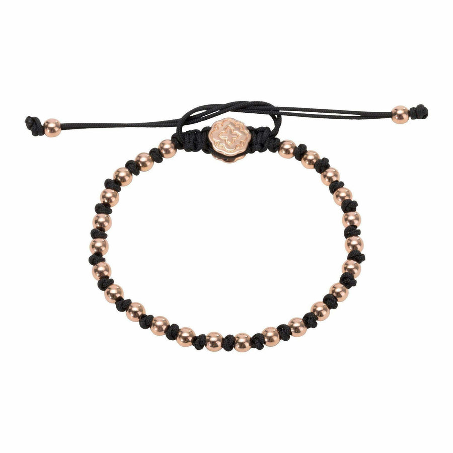 Alternated Mini Ball Bracelet - Rose Gold-Goldoni Milano
