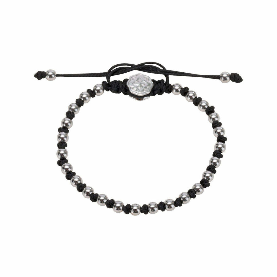 Alternated Mini Ball Bracelet - Rhodium-Goldoni Milano