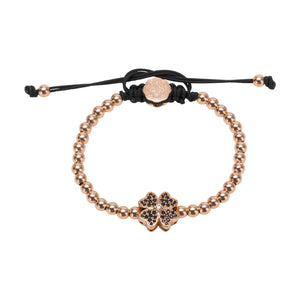 Four Leaf Clover Bracelet - Rose Gold-Goldoni Milano