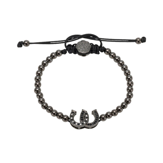 Double Horseshoe Bracelet - Ruthenium - Goldoni Milano