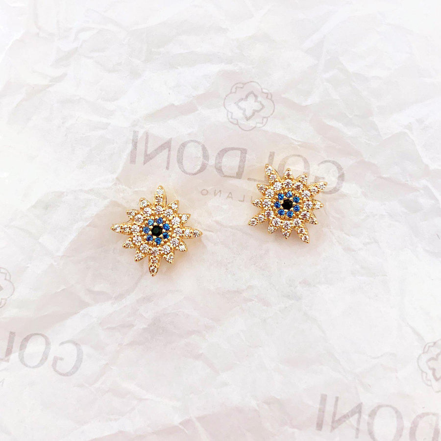 Sun Earrings - Gold-Goldoni Milano