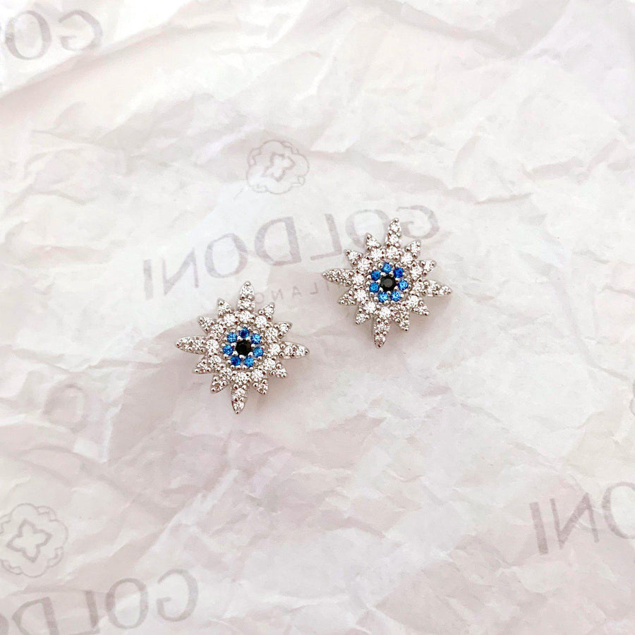 Sun Earrings - Rhodium-Goldoni Milano
