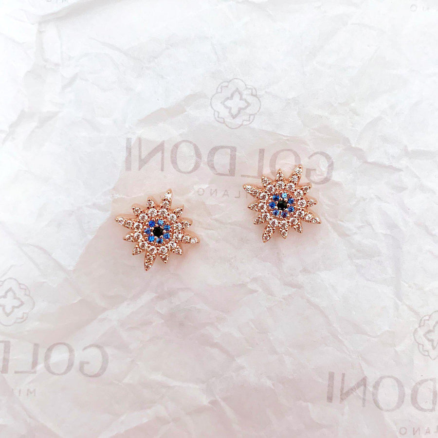Sun Earrings - Rose Gold-Goldoni Milano