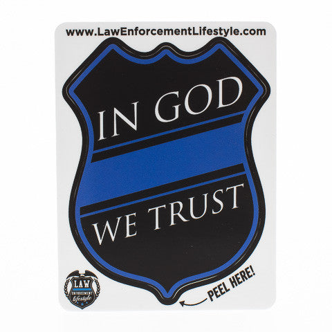 In God We Trust Sticker Law Enforcement Lifestyle