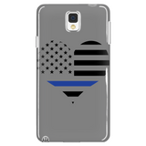 Thin Blue Line Heart Cell Phone Cases