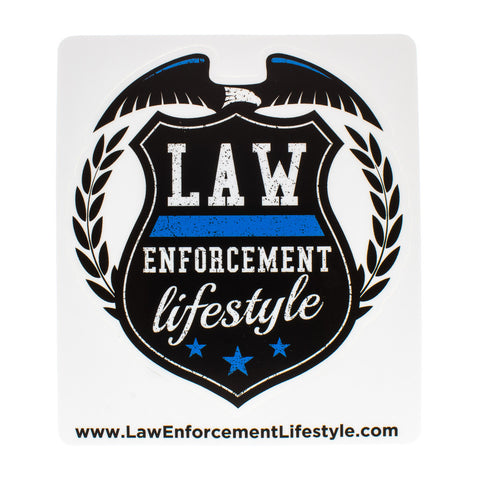 Law Enforcement Lifestyle Sticker