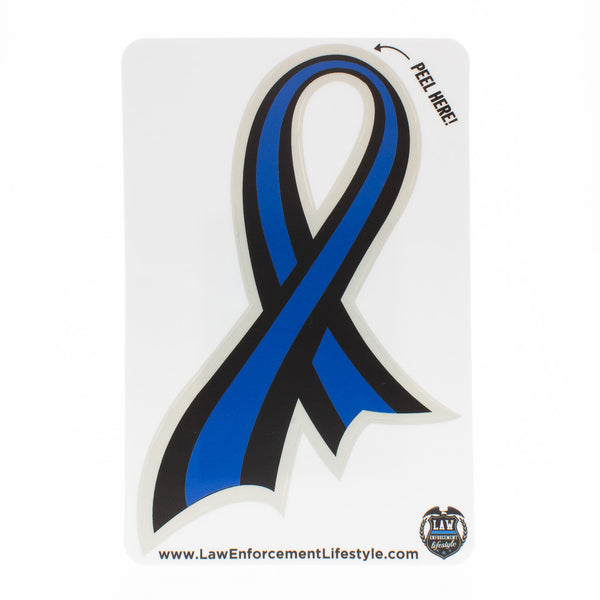 Thin Blue Line Ribbon Law Enforcement Lifestyle
