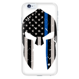 Thin Blue Line Spartan Phone Case