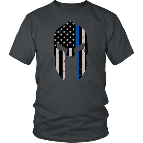 Thin Blue Line Spartan