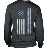Verticle Thin Blue Line Flag
