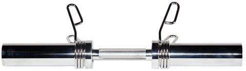 Olympic Dumbbell Handle With Spring Clip Collars