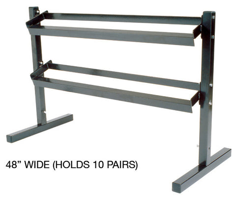 York 2 Tier Dumbbell Rack