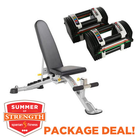 Hoist 5165 Bench & Powerblock U90 Dumbbells