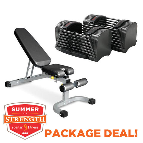BEST VALUE Adjustable Bench and Dumbbell package!