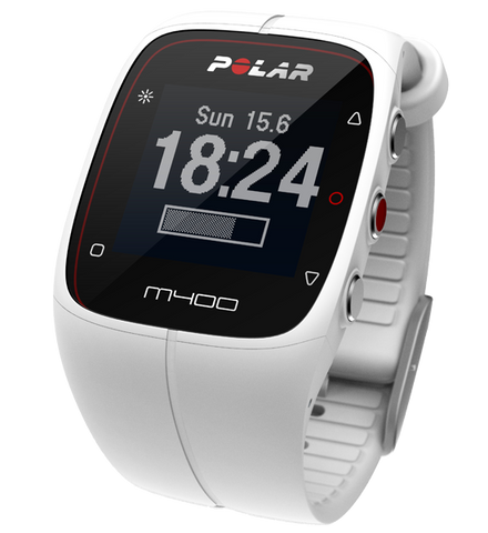 Polar M400HR Sports Watch White