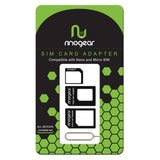 [4-in-1] Nano & Micro SIM Card Adapter Kit by RinoGear Converter (Nano / Micro / Standard) + Removal Tool
