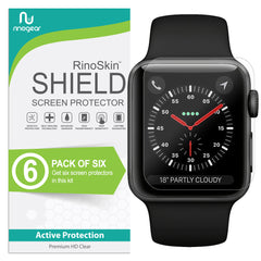 [6-Pack] Apple Watch 42mm (Series 3, 2, 1) Screen Protector