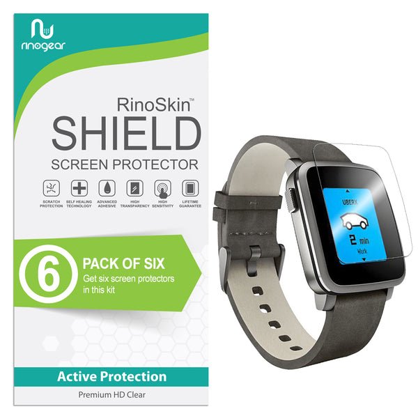 [6-Pack] Pebble Time Steel Screen Protector