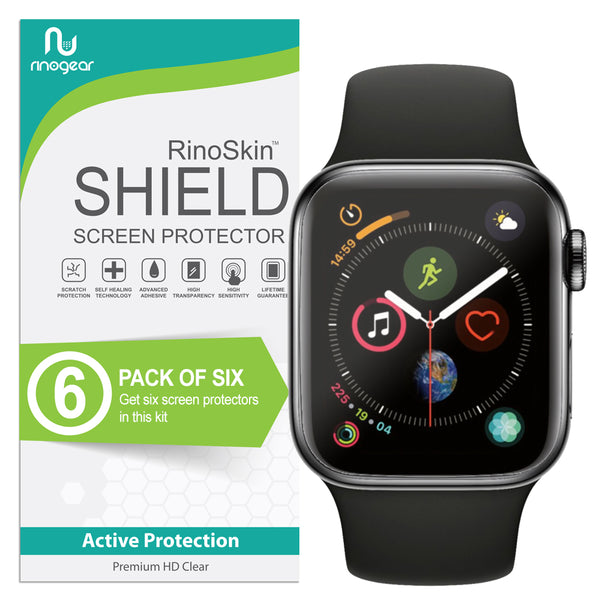 [6-Pack] Apple Watch Screen Protector 44mm (Series 6, 5, 4, SE) [Full Coverage]