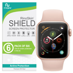 [6-PACK] Apple Watch Screen Protector 40mm (Series 5, 4) [Full Coverage]