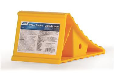 Wheel Chock; Yellow; Hard Plastic; Single