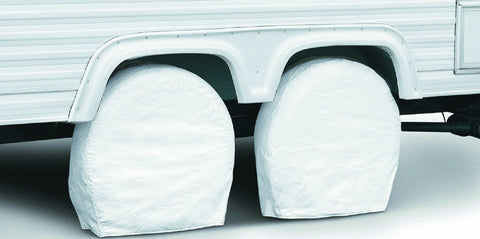 76280 RV Wheel Cover, Pair, White, 36-Inch-39-Inch