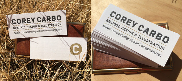 Business Cards printed by Percolator Letterpress Co. for Austin, Texas Designer