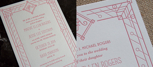 Letterpress Wedding Invitations for Austin Designer
