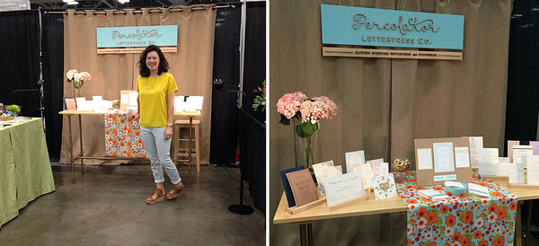 Percolator Letterpress Co. at the Austin Bridal Extravaganza