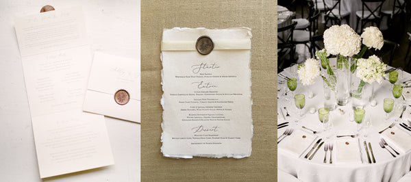 Deckle Edge Letterpress Menus