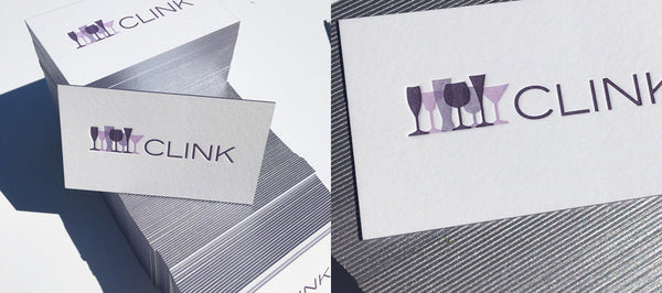 Edge Painted Letterpress Business Cards for Clink Events