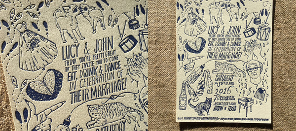 Unique Artistic Flair for Letterpress Wedding Invitations
