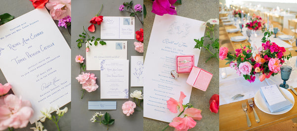 Percolator Letterpress Wedding Invitations Featured in Style Me Pretty