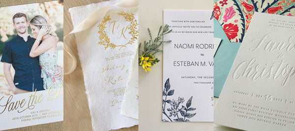 A Look at Some Different Letterpress Wedding Invitations