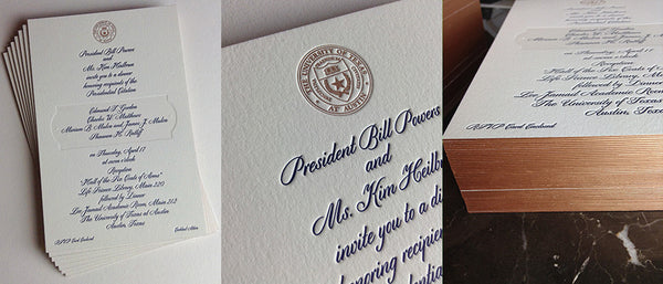 Letterpress for The University of Texas at Austin