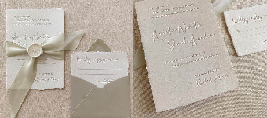 Deckle Edge Wedding Invitations