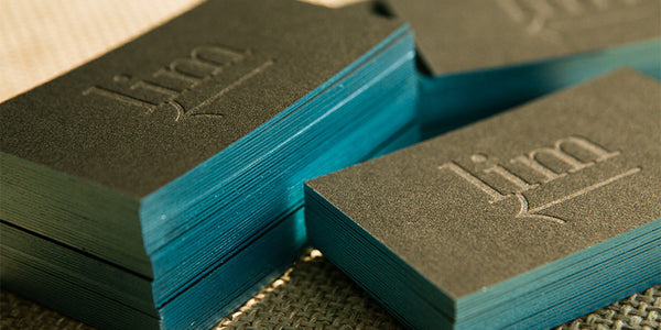 Edge Painted Stealth Letterpress Business Cards