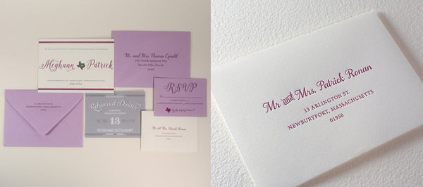 Collaboration with an Amazing Event Coordinator on Letterpress Wedding Invitations