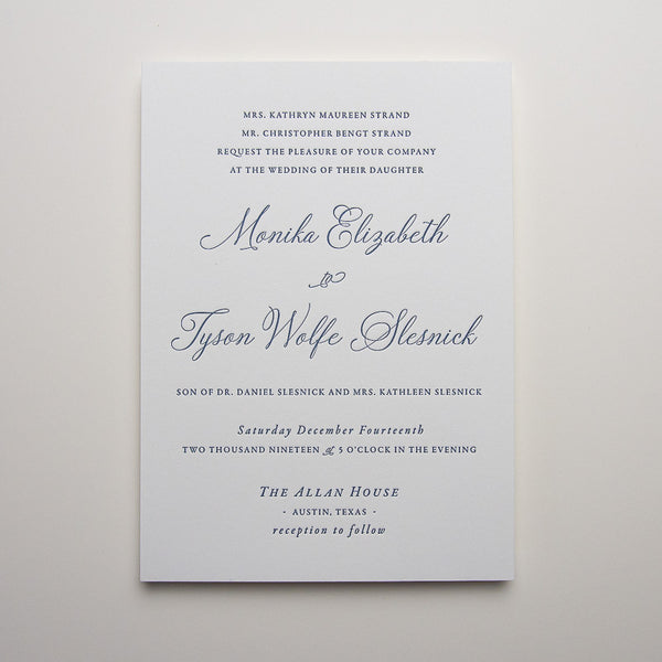 Monika Letterpress Invitations