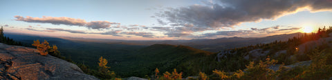 Sunset from Mount Hunger, Vermont, by R.M. Fullerton.