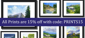 Take 15% off all Prints with code: PRINTS15 during my Annual Studio Sale, now through December 18, 2020. Order them unframed, matted or matted and framed. Cannot be combined with other coupon codes in one order. Shipping is free to the lower 48 US States.