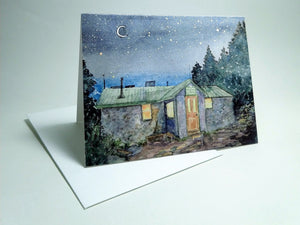 Carter Notch Hut, small blank greeting card