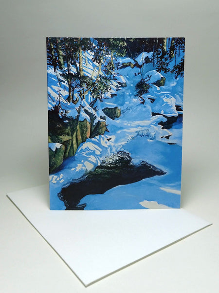 Gibbs Brook, small blank greeting card