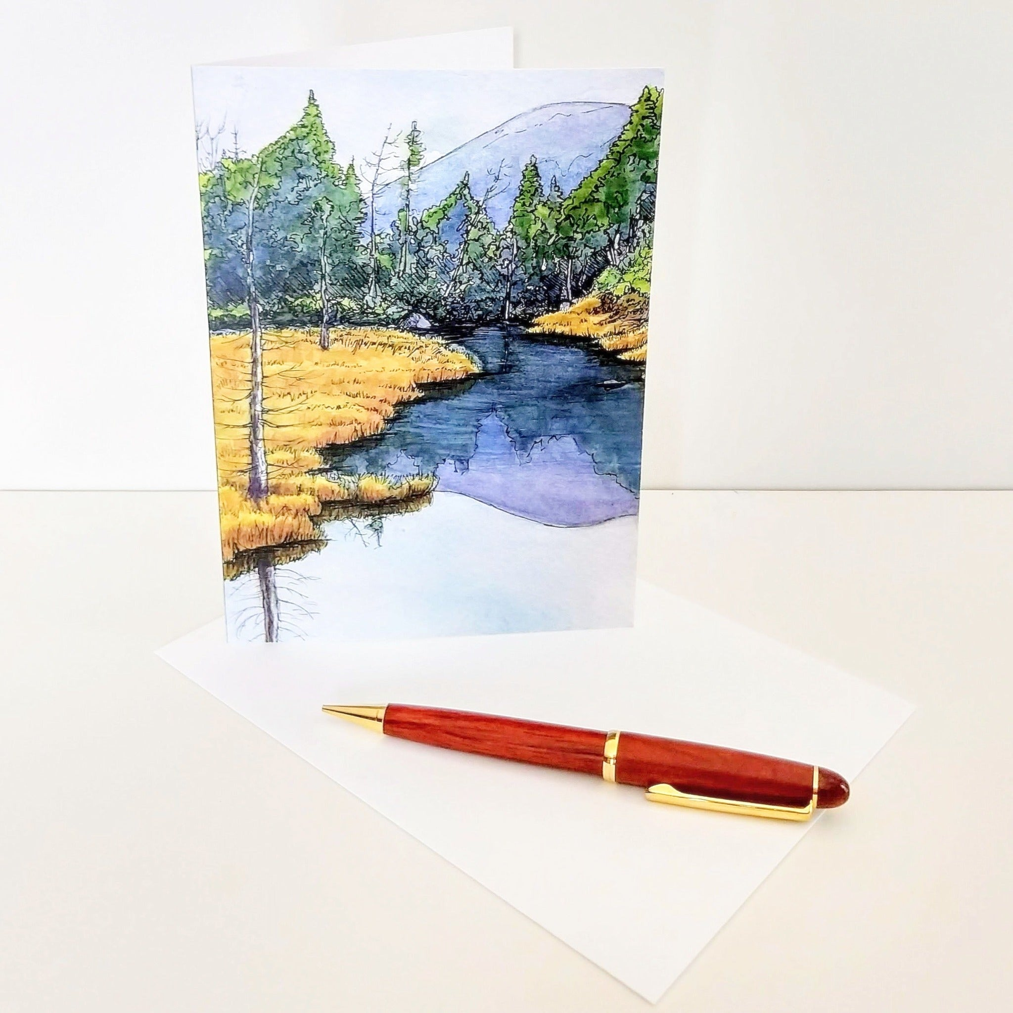 In Pinkham Notch, large blank greeting card