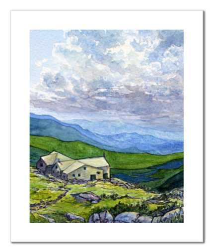 "Lakes of the Clouds Hut 8x10"" fine art print"