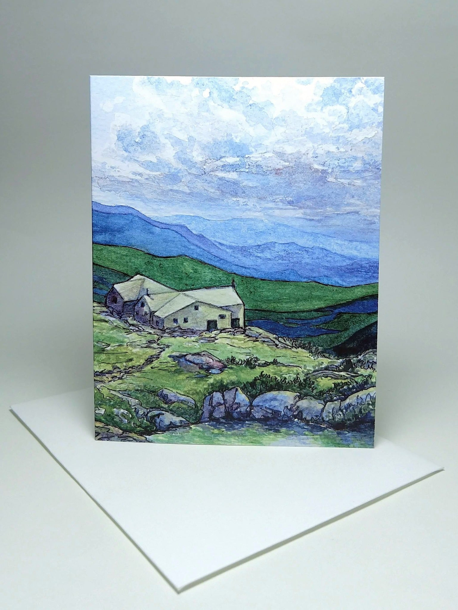 Lakes of the Clouds Hut, small blank greeting card
