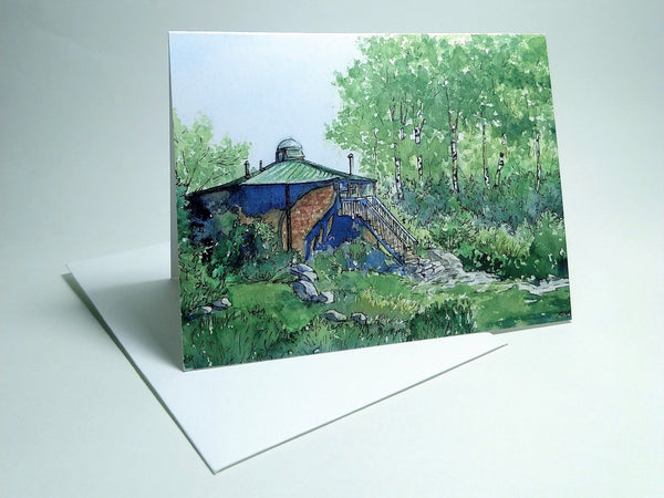 Lonesome Lake Hut, small blank greeting card