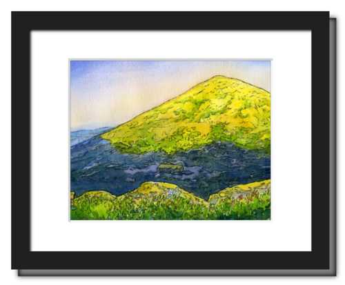 Appalachian Mountain Club Madison Spring Hut, White Mountain National Forest, White Mountains, New Hampshire. Fine art print of a watercolor painting. Gifts for hikers, backpackers, outdoor enthusiasts and hut fans.